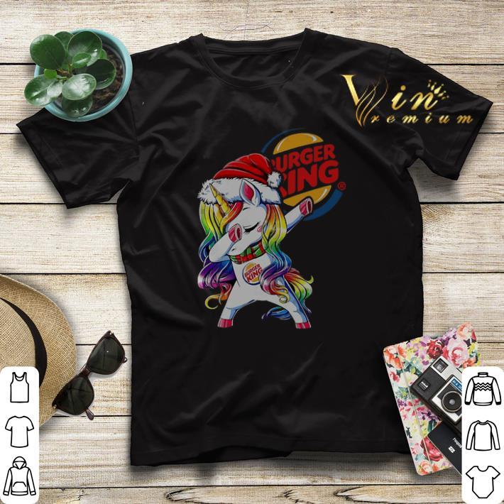Dabbing Santa Unicorn Burger King shirt sweater 4 - Dabbing Santa Unicorn Burger King shirt sweater