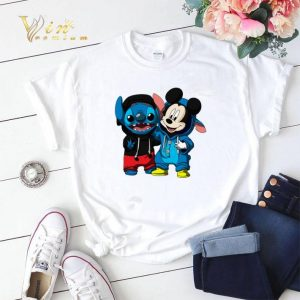 Funny Baby Mickey and Stitch shirt sweater