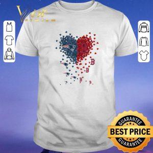 Funny I love New England Patriots Boston Red Sox shirt sweater