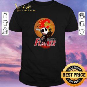 Funny Jack Skellington Holding Hockey Stick Calgary Flames shirt sweater