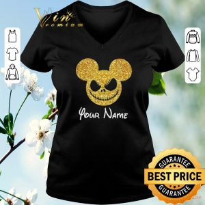 Funny Mickey Face Your Name Jack Skellington shirt