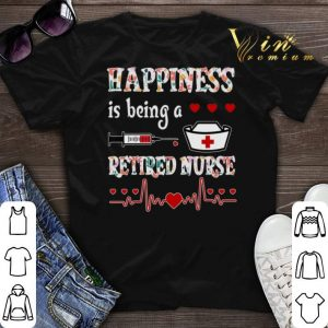 Happiness is being a retired nurse floral shirt swetaer