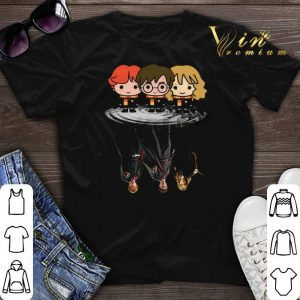 Harry Potter chibi reflection water mirror Ron and Hermione shirt sweater