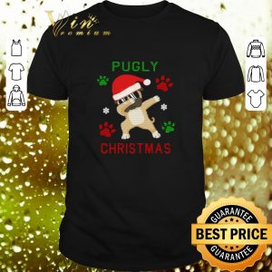 Hot Dabbing Pug Pugly paws ugly Christmas shirt