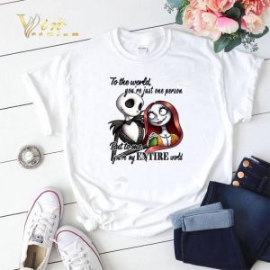 Jack Skellington & Sally to the world you're just one person shirt sweater