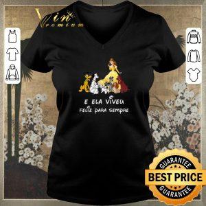 Nice Belle and dogs E Ela Viveu Feliz Para Sempre shirt sweater
