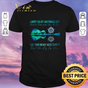 Official Supernatural carry on my wayward son lay your weary guitar lake shirt sweater