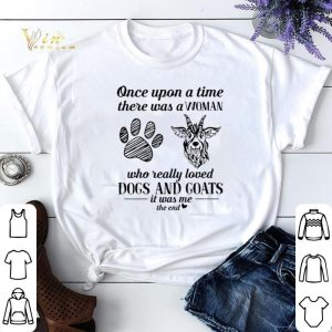 Once upon a time there was a woman who really loved dogs & goats shirt sweater