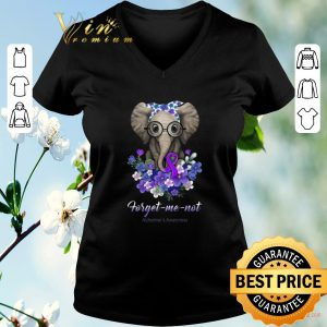 Premium Elephant forget me not Alzheimer's Awareness shirt sweater