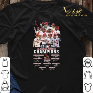 Signatures St Louis Cardinals 2019 NL central division champions shirt 2