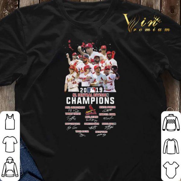 Signatures St Louis Cardinals 2019 NL central division champions shirt