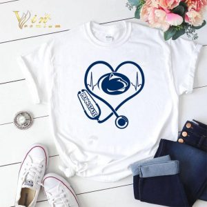 Stethoscope Penn State Nittany Lions heart nurse shirt sweater