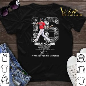 Thank you for the memories 16 Brian Mccann Atlanta Braves signature shirt