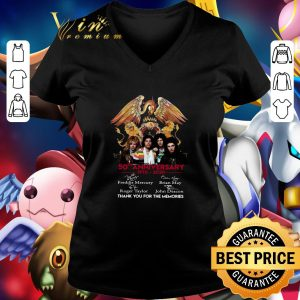 Top 50th anniversary 1970-2020 Queen Freddie Mercury Thank you for the memories shirt