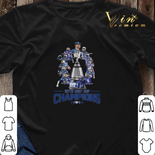 107th Grey Cup Champions 2019 Winnipeg Blue Bombers players shirt sweater