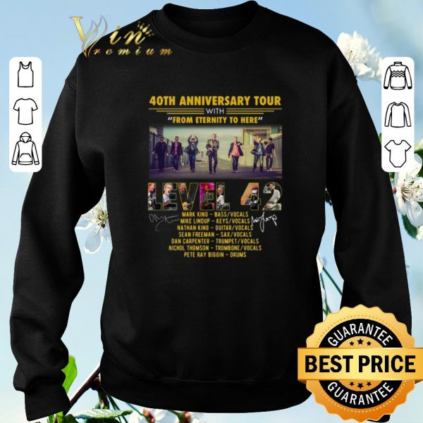 40th anniversary tour with from eternity to here Level 42 shirt sweater