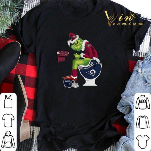 49ers Grinch Santa Cardinals LA Rams Toilet Seattle Seahawks shirt sweater