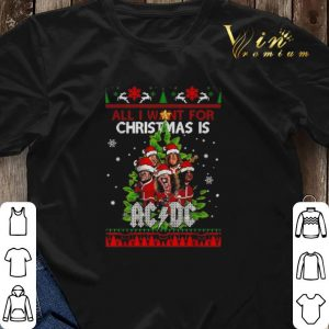 All I want for Christmas is ACDC ugly shirt 2