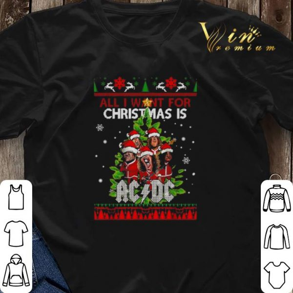 All I want for Christmas is ACDC ugly shirt