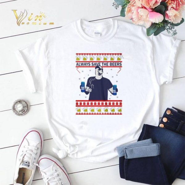 Always save the beers Bud Light ugly Christmas shirt sweater