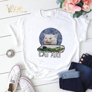 Angry Yelling At Confused Cat At Dinner Table Meme 2020 shirt sweater