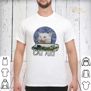 Angry Yelling At Confused Cat At Dinner Table Meme 2020 shirt sweater 2
