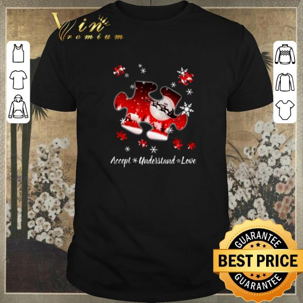 Awesome Autism Puzzle Accept understand Love Christmas shirt sweater