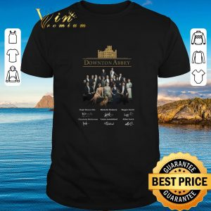 Awesome Downton Abbey all character signatures shirt 2020