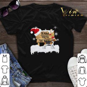Christmas Beagle Through The Snow shirt