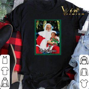 Christmas Santa Knee Nicolas Cage Merry Cagemas shirt
