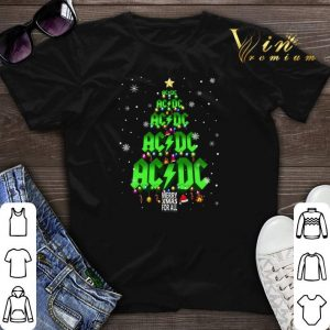 Christmas tree ACDC Merry Xmas for all shirt