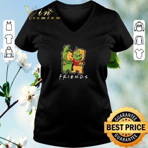 Funny Friends Grinch and Pooh Christmas light shirt sweater