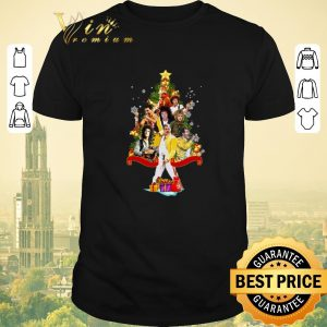 Funny Merry Christmas tree Freddie Mercury Queen shirt