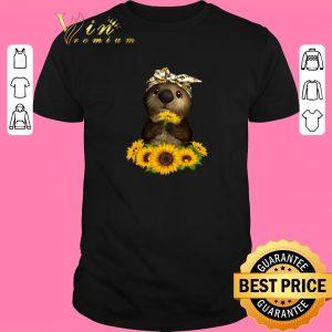Funny Otter sunflowers shirt sweater 2019