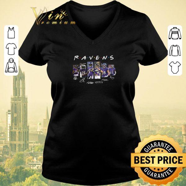 Funny Signatures Friends Baltimore Ravens shirt