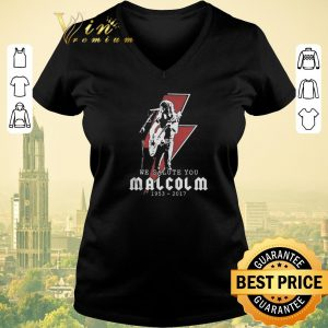 Funny We salute you Rip Malcolm Young 1953 2017 shirt sweater 1
