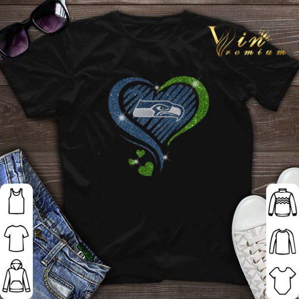 Glitter Love Seattle Seahawks hearts shirt sweater
