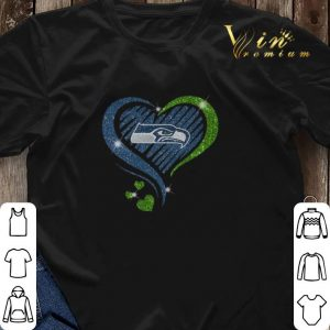 Glitter Love Seattle Seahawks hearts shirt sweater 2