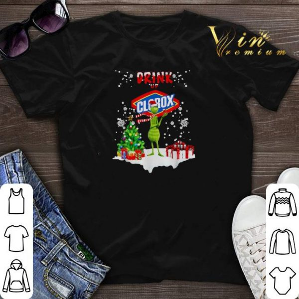 Grinch drink up Clorox Christmas shirt sweater