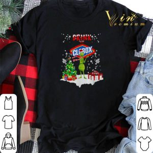 Grinch drink up Clorox Christmas shirt sweater 1