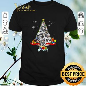Hot Christmas tree Oakland Raiders players signatures shirt