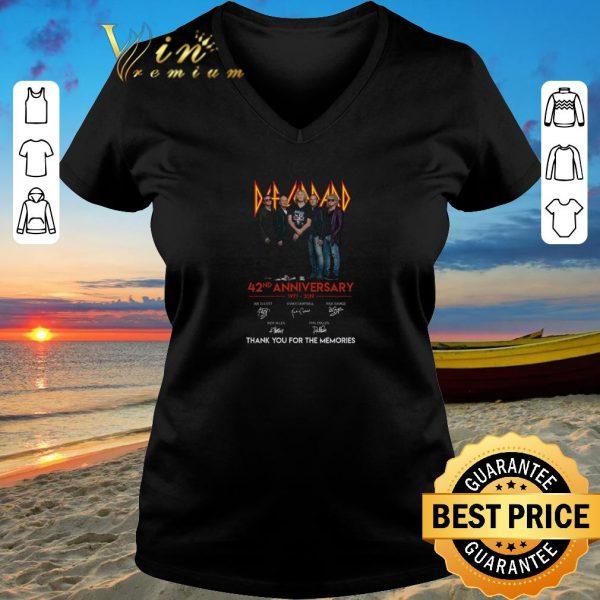 Hot Def Leppard 42nd anniversary 1977-2019 signatures shirt sweater 2019
