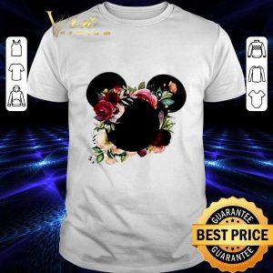 Hot Mickey Minnie head floral shirt
