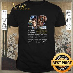 Hot Signatures Han Solo Chewbacca 42 years of 1977 2019 Star Wars shirt