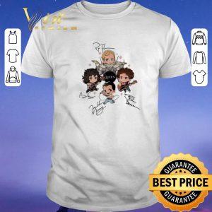 Hot Signatures Queen band chibi Friends shirt