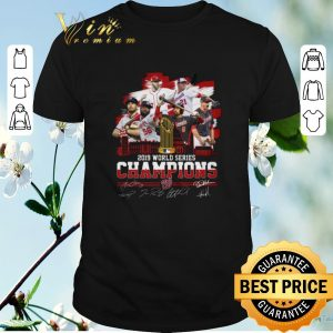 Hot Signatures Washington Nationals 2019 World Series Champions shirt