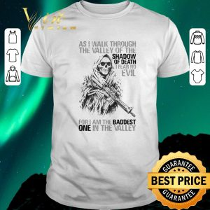 Hot Skull veteran as i walk through the valley of the shadow of death i fear no evil shirt sweater