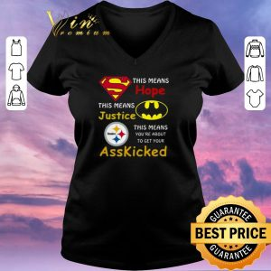 Hot Steelers Superman This means hope this means justice asskicked shirt sweater