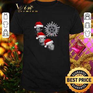 Hot Supernatural Winchester Brothers And Castiel Christmas shirt