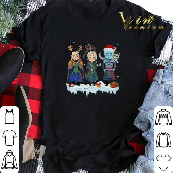 Jon Snow Daenerys Targaryen Night King chibi Christmas shirt sweater